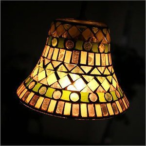 ペンダントライト ガラス アンティーク おしゃれ LED対応 ペンダント照明 北欧 レトロ モダン キッチン ダイニング モザイクガラスのペンダントライト ベルB|gigiliving