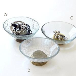 アクセサリートレイ おしゃれ アンティーク インテリアトレイ 小物入れ ガラス 卓上 クリア ゴールド 皿 プレート ガラストレー3タイプ|gigiliving