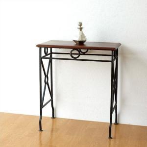 ネストテーブル サイドテーブル アイアン 木製 シーシャムウッド 天然木 無垢 おしゃれ モダン シンプル アジアン ナチュラル ネストテーブル コンソールM|gigiliving