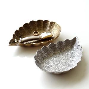 プレート トレー トレイ 真鍮 小物 皿 ゴールド シルバー おしゃれ アンティーク アクセサリートレイ 卓上 収納 小物置き ブラスペイズリープレート2カラー|gigiliving