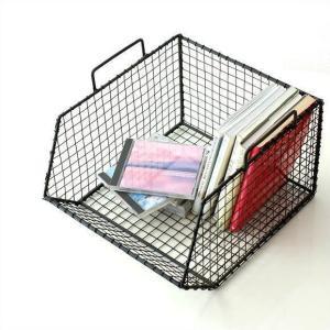 ワイヤーバスケット ワイヤーカゴ 収納かご キッチン デスク 収納ボックス 小物入れ おしゃれ アイアン ワイヤー・バスケット スタッキング|gigiliving