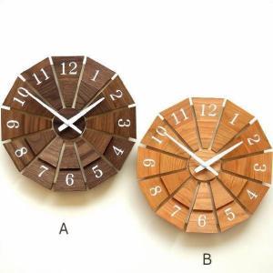 壁掛け時計 壁掛時計 掛け時計 掛時計 木製 おしゃれ 天然木 無垢 日本製 ウォールナット チェリー ウォールクロック ウッド壁掛け時計SUN M2カラー|gigiliving
