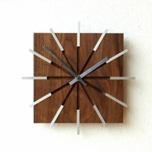 掛け時計 壁掛け時計 木製 ウォールクロック モダン おしゃれ ウッドラインクロック|gigiliving