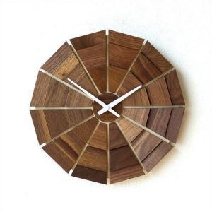 壁掛け時計 壁掛時計 掛け時計 掛時計 木製 おしゃれ 天然木 無垢 日本製 ウォールナット ウォールクロック 文字盤なし ナチュラル ウッド壁掛け時計SUN L|gigiliving