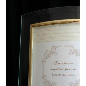 フォトフレーム ガラス 透明 写真立て フォトスタンド クリア おしゃれ 2面 2枚 2連 キャビネ 結婚祝い プレゼント ギフト ガラスのフレーム ウェーブ|gigiliving|03