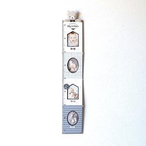 フォトフレーム 身長計 壁掛け ベビー 赤ちゃん 子供 幼児 写真 成長記録 かわいい 可愛い 出産祝い ギフト プレゼント 贈り物 ベビー身長計フレーム モノトーン