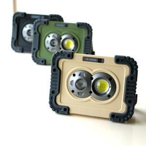 LEDライト ワークライト 電池式 屋外 屋内 磁石 マグネット 壁掛け スタンド 手持ち 防水 防塵 耐衝撃 軽量 防災 小型 ポータブルLEDワークライト3カラー|gigiliving