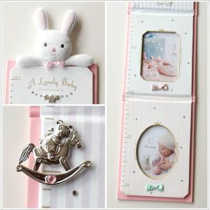 フォトフレーム 身長計 壁掛け 赤ちゃん ベビー 子供 幼児 写真 成長記録 かわいい 贈り物 プレゼント ベビー身長計2カラー|gigiliving|04