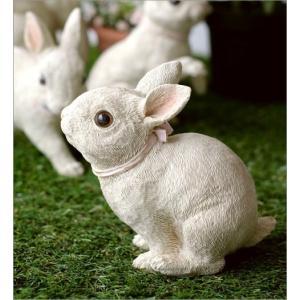 うさぎ 置物 ウサギ 家族 親子 インテリア 玄関 ガーデン オブジェ かわいい アニマル 動物 オーナメント 可愛い ディスプレイ ファミリーラビットの置物|gigiliving|04