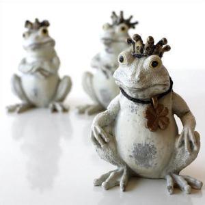 かえる 置物 カエル 雑貨 ガーデンオブジェ インテリアオブジェ ガーデン置物 フロッグ3兄弟|gigiliving