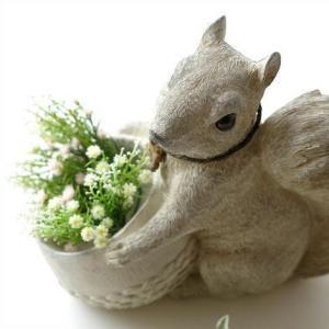リス 置物 ガーデンオブジェ かわいい 置き物 インテリアオブジェ りす ガーデン置物 子リス|gigiliving
