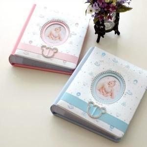 フォトアルバム かわいい ベビー 赤ちゃん 出産祝い プレゼント ギフト 贈り物 可愛い ピンク ブルー ラソワ ベビー・アルバム2カラー|gigiliving