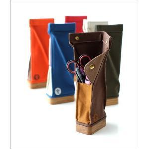 ペンケース スタンド おしゃれ 帆布 木製 日本製 かわいい シンプル 自立型 立つ 縦型 スタンド型ペンケース6カラー|gigiliving|02