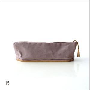ペンケース おしゃれ 帆布 木製 日本製 かわいい シンプル 仕切り 帆布とウッドのペンケース2カラー gigiliving 06