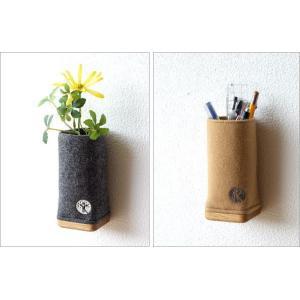 ペン立て メガネスタンド かわいい 木製 壁掛け可 おしゃれ ペンスタンド ペンたて メガネ入れ 眼鏡スタンド 卓上 ウールメルトンと木のペン立て 2カラー|gigiliving|05
