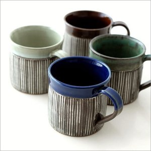 マグカップ 陶器 おしゃれ モダン コーヒーマグカップ 美濃焼 日本製 マグカップ メグライン4カラー