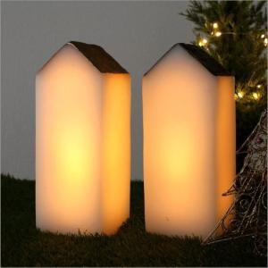 LEDライト インテリアライト おうち デザイン かわいい 照明 北欧 ライトスタンド テーブルランプ 卓上 LEDライトハウス 2カラー
