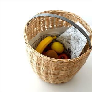 かご カゴ ラタン バスケット 編みかご キッチン リビング 収納 かわいい ナチュラル おしゃれ ラタンフラワーバスケットサークル|gigiliving