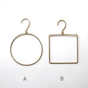 タオルハンガー 真鍮 おしゃれ アンティーク キッチン トイレ 洗面所 タオルリング ゴールド 壁掛け シンプル 丸 円 四角 ブラスタオルハンガー2タイプ