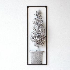壁飾り アイアン アンティーク モダン アートパネル ウォールデコレーション おしゃれ 壁掛け インテリア 花 ウォールアート アイアンの壁飾り ホワイトフラワー|gigiliving