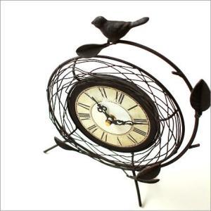 置き時計 置時計 おしゃれ レトロ アナログ アンティークな置時計 B gigiliving