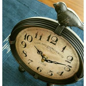 置き時計 置時計 おしゃれ レトロ アナログ アンティークな置時計 A|gigiliving