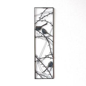 アイアン 壁飾り インテリア 壁掛け アートパネル 鳥 アートフレーム モノトーン おしゃれ モダン ウォールデコ アイアンの壁飾り スリーバード|gigiliving