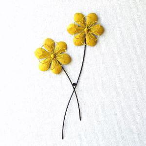 アートパネル ウォールデコレーション 壁掛け インテリア ウォールアート 花 フラワー シャビー レトロ アイアンの壁飾り アンティークイエロー|gigiliving