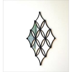 壁飾り ミラー アイアン 壁掛け インテリア おしゃれ 壁面 飾り 装飾 ウォールデコ 鏡 アンティーク アート リビング 玄関 ウォールデザインミラーの壁飾り|gigiliving|02