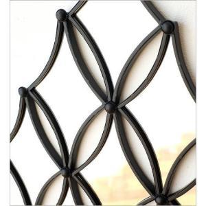 壁飾り ミラー アイアン 壁掛け インテリア おしゃれ 壁面 飾り 装飾 ウォールデコ 鏡 アンティーク アート リビング 玄関 ウォールデザインミラーの壁飾り|gigiliving|03
