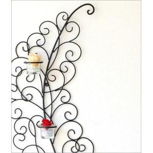 壁飾り 壁掛け インテリア ウォールデコ アートパネル 壁面飾り アイアンの壁飾り  リーフ3カップ|gigiliving|02