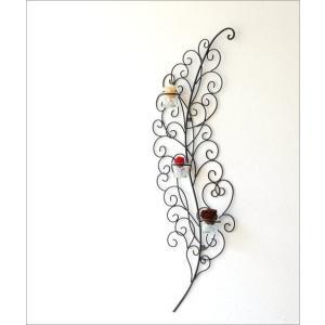 壁飾り 壁掛け インテリア ウォールデコ アートパネル 壁面飾り アイアンの壁飾り  リーフ3カップ|gigiliving|06