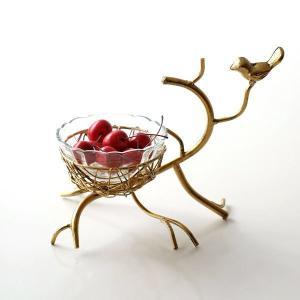 花瓶 花びん 小物入れ アイアンと小鳥のガラスボウル|gigiliving
