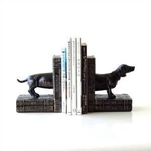 長い胴が可愛い ダックスフントのブックエンドは 中に本を挟む度 どんどん、胴が長くなる 可愛いブック...