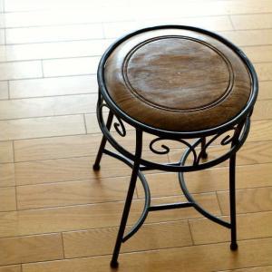 スツール おしゃれ アンティーク 椅子 いす イス 木製 アイアンとウッドのスツール|gigiliving