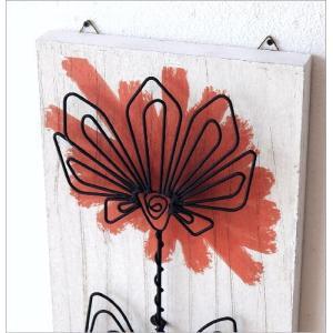 アートパネル 花 フラワー アイアン 木製 壁飾り おしゃれ シャビー モダン アンティーク 壁掛け インテリア ウォールデコ ウォールアートパネル 花B|gigiliving|03