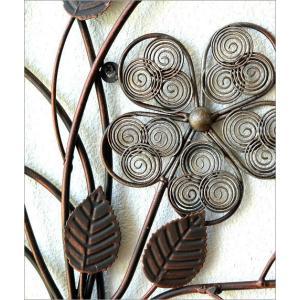 壁飾り アイアン アートパネル 植物 花 フラワー ウォールデコ 壁掛け インテリア おしゃれ アンティーク風 かわいい カフェ アイアンの壁飾り フラワーベース|gigiliving|03