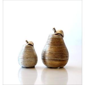 洋梨 置物 オブジェ おしゃれ セラミック 陶器 インテリア シルバー ゴールド 洋ナシのオブジェ 2個セット|gigiliving|05