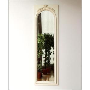 鏡 壁掛け鏡 壁掛けミラー ウォールミラー おしゃれ アンティークホワイトのロングミラー|gigiliving|05