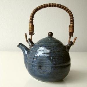 土瓶 急須 きゅうす おしゃれ 美濃焼き 日本製 青万葉土瓶|gigiliving