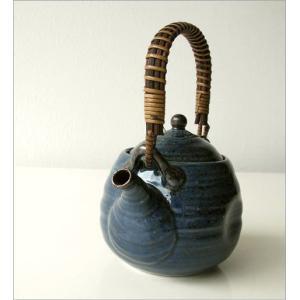 土瓶 急須 きゅうす おしゃれ 美濃焼き 日本製 青万葉土瓶|gigiliving|02