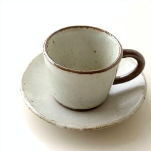 カップ&ソーサー おしゃれ 陶器 和食器 ティーカップ ソーサー コーヒーカップ&ソーサー 日本製 美濃焼 シンプル 和風 和 ガレット カップ&ソーサー|gigiliving