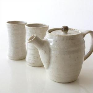 ティーポット セット おしゃれ 陶器 和食器 茶器セット 急須 きゅうす 湯のみ プレゼント 贈り物 お祝い 日本製 美濃焼 茶碗 茶こし付き うのはな茶器揃えの画像