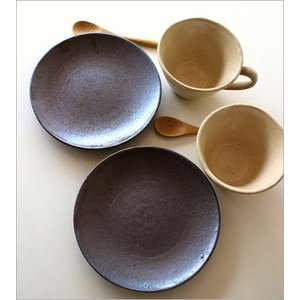 カップ&ソーサー おしゃれ 陶器 和食器 コーヒーカップ セット 日本製 美濃焼 キナリカップ&ソーサー2個セット|gigiliving|04