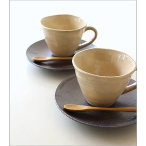 カップ&ソーサー おしゃれ 陶器 和食器 コーヒーカップ セット 日本製 美濃焼 キナリカップ&ソーサー2個セット|gigiliving|07