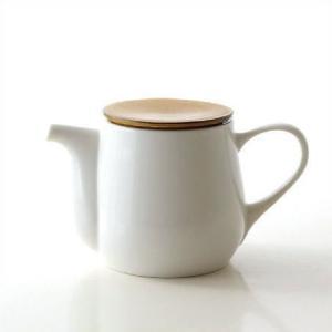 ティーポット 白 陶器 おしゃれ 茶こし付き 急須 和風 洋風 モダン 無地 かわいい シンプル デザイン 美濃焼 日本製 カフェ 紅茶 陶芸 焼き物 ビコポット|gigiliving