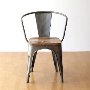 チェア 一人用 椅子 一人掛け おしゃれ アイアン 木製 レトロ シャビー アンティーク ヴィンテージ 1人用 1人掛け シルバーアイアンとウッドのチェアー|gigiliving