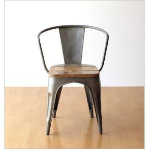 チェア 一人用 椅子 一人掛け おしゃれ アイアン 木製 レトロ シャビー アンティーク ヴィンテージ 1人用 1人掛け シルバーアイアンとウッドのチェアー|gigiliving|04