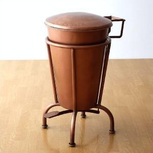 ゴミ箱 おしゃれ ペダル ふた付き ペダルビン アイアン アンティーク レトロ ダストボックス ダスト缶 大きい ビンテージ アイアンのビッグダストビン|gigiliving