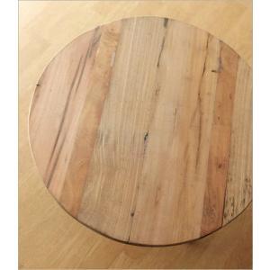 テーブル 丸 木製 アイアン 幅60cm シャビー アンティーク レトロ ちゃぶ台 座卓 天然木 丸型 円形 木目 ビンテージ シャビーな寄木のラウンドテーブル|gigiliving|03